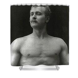 Eugen Sandow Shower Curtain by American Photographer