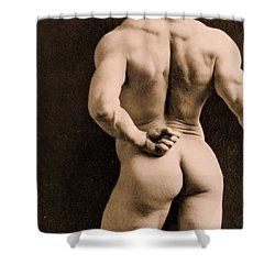 Eugen Sandow Shower Curtain by Napoleon Sarony