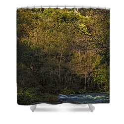 Shower Curtain featuring the photograph Eume River Galicia Spain by Pablo Avanzini