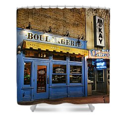 Shower Curtain featuring the photograph Eva's Bakery  by Ely Arsha