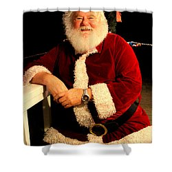 Even Santa Needs A Break Shower Curtain