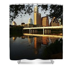 Evening Along The River Shower Curtain by Dave Files