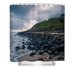 Evening Arrives At Kalalau 2 Shower Curtain