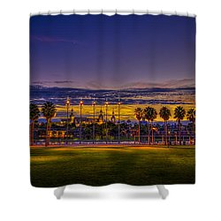 Evening At The Park Shower Curtain by Marvin Spates