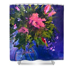Evening Blooms Shower Curtain