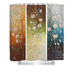 Evening Blossom Shower Curtain