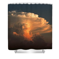 Shower Curtain featuring the photograph Evening Buildup by Charlotte Schafer