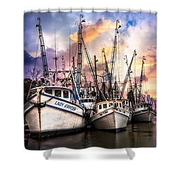Evening Colors Shower Curtain by Debra and Dave Vanderlaan
