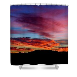 Evening Desert Skies Shower Curtain