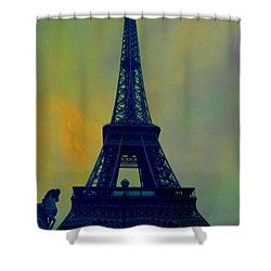 Evening Eiffel Tower Shower Curtain