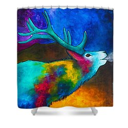 Evening Elk Shower Curtain