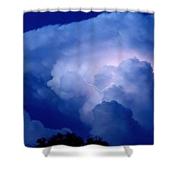 Shower Curtain featuring the photograph Evening Giant by Charlotte Schafer