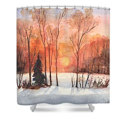 The Evening Glow Shower Curtain