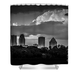 Evening Gray Shower Curtain by Marvin Spates