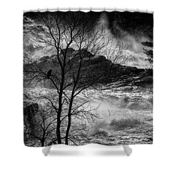 Evening Great Falls Maine Shower Curtain by Bob Orsillo