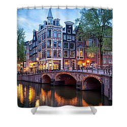 Evening In Amsterdam Shower Curtain