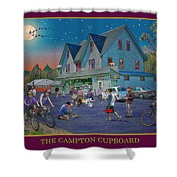 Evening In Campton Village Shower Curtain by Nancy Griswold