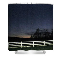 Evening In Horse Country Shower Curtain