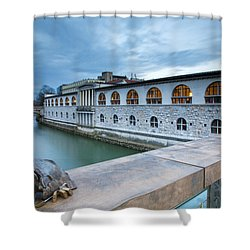Evening In Ljubljana Shower Curtain
