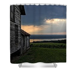 Evening Is Falling Shower Curtain