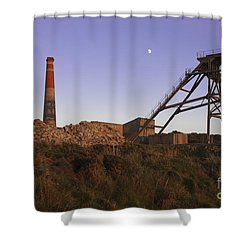 Evening Light At Botallack Shower Curtain by Terri Waters