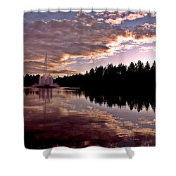 Evening Light At Lost Lagoon Shower Curtain