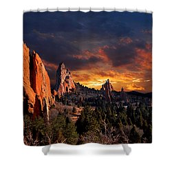 Evening Light At The Garden Shower Curtain