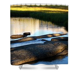 Contemplating Sunset Shower Curtain