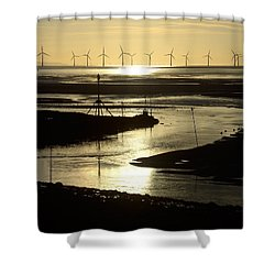 Evening Low Tide 2 Shower Curtain