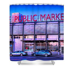 Evening Milwaukee Public Market Shower Curtain