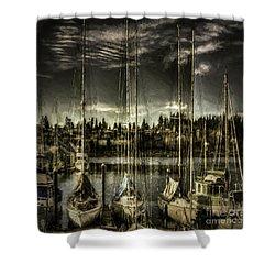 Evening Mood Shower Curtain by Jean OKeeffe Macro Abundance Art