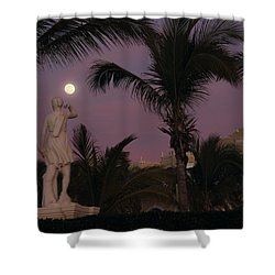 Evening Moon Shower Curtain by Shane Bechler