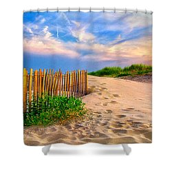 Evening On The Beach Shower Curtain