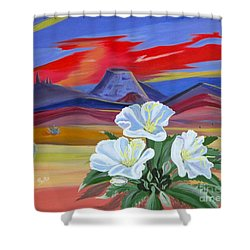 Shower Curtain featuring the painting Evening Primrose by Phyllis Kaltenbach