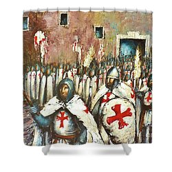 Templar Procession  Shower Curtain
