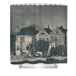 Evening Rendezvous Shower Curtain by Laurie Search