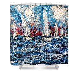 Evening Sailing Shower Curtain