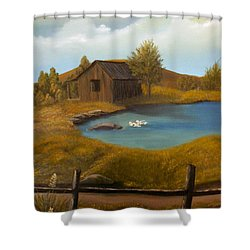 Evening Solitude Shower Curtain by Sheri Keith