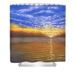 Evening Splash Shower Curtain