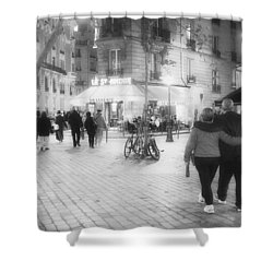 Evening Stroll In Paris Shower Curtain