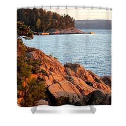 Evening Sun By The Waterfront Shower Curtain
