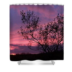Evening Sunset Shower Curtain