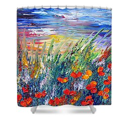 Evening Shower Curtain by Teresa Wegrzyn