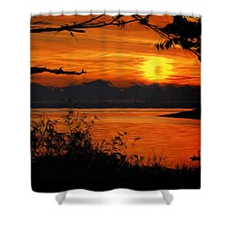 Evening Tide Shower Curtain