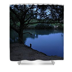Evening Time At Kfar Blum Shower Curtain