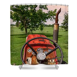 Ever Drive A Tractor Shower Curtain