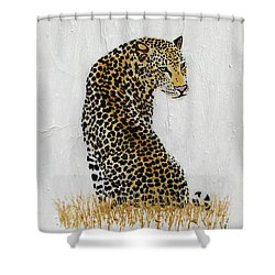 Shower Curtain featuring the painting Ever Watchful by Stephanie Grant
