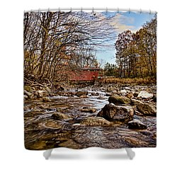 Everett Rd Covered Bridge Shower Curtain by Jack R Perry