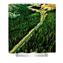 Evergreen Highway Shower Curtain by Benjamin Yeager