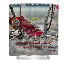 Shower Curtain featuring the photograph Everlasting Words by Larry Bishop